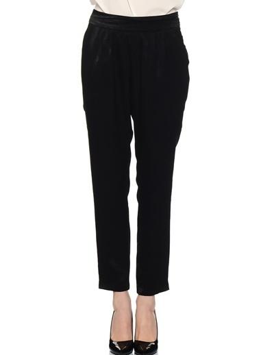 House Of Camellia Kuşak Detaylı Boru Paça Pantolon Siyah